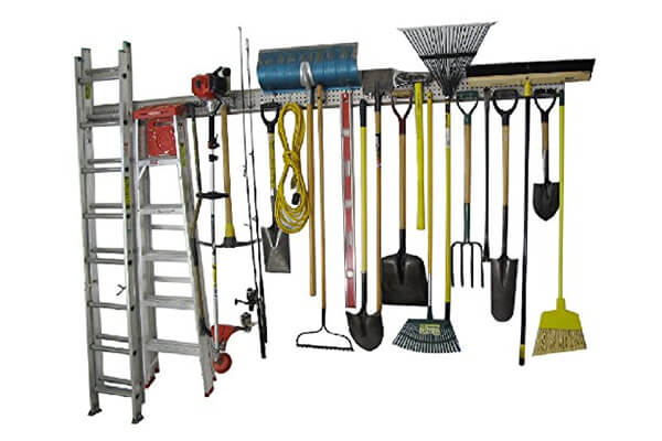 Holeyrail, Garage Organizer, Metal Pegboard, Commercial Quality, Industrial Strength