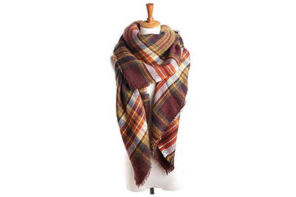best bridal women's plaid blanket winter scarf