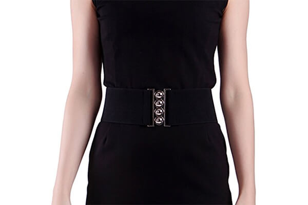 HDE women's fashion elastic cinch belt