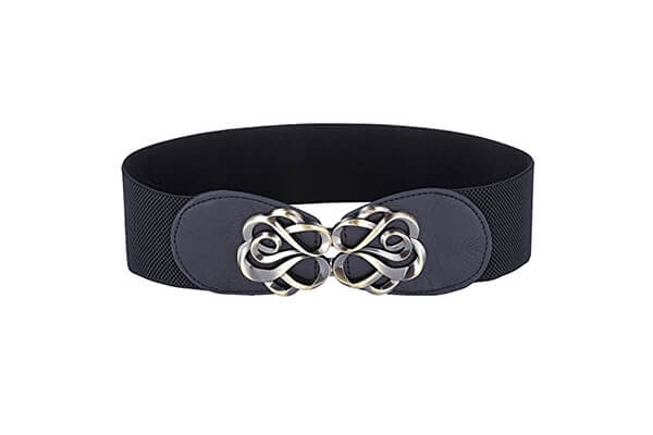 grace Karin women fashion buckle elastic waist cinch belt