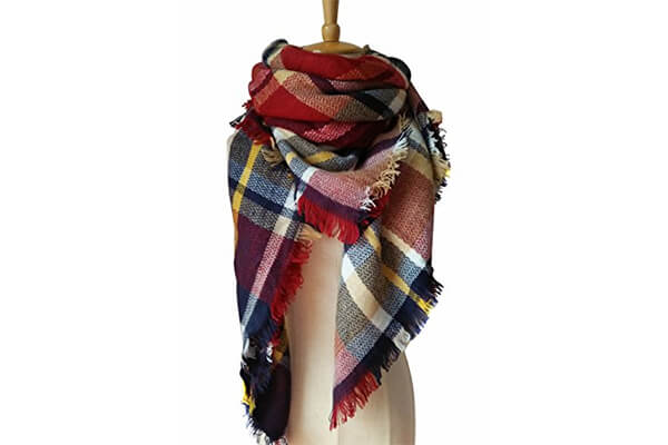 motine tartan blanket scarf winter warm Pashmina wrap shawl for women