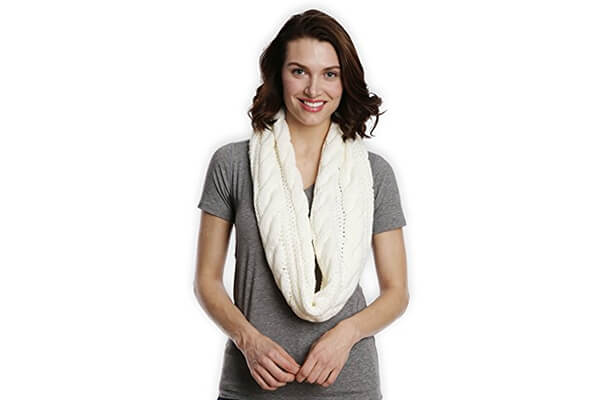 tough headwear chunky cable knit scarf