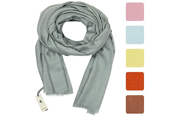 kashfab Kashmir women's men's plain scarf