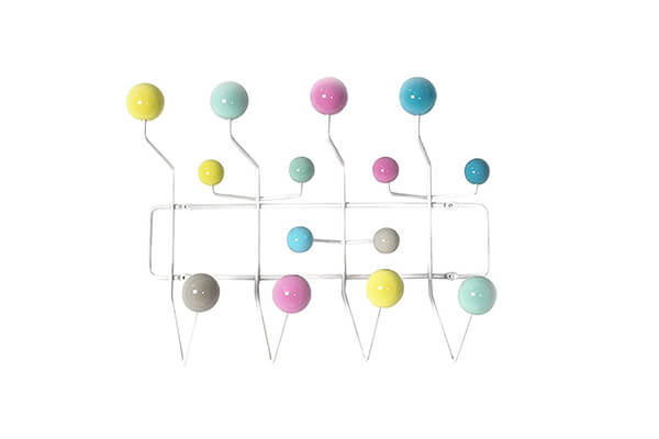LCH Eames Hang it all Replica, Wall Mounted Coat Rack with painted Solid Wooden balls