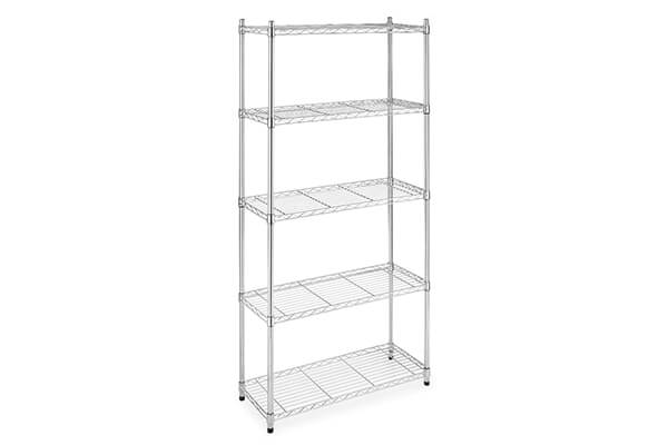 "Halter ETI-001 5 Tier Storage Shelves for Kitchen / Garage / Office - NSF Approved for Commercial Use - 72"" X 36"" X 14"" – Chrome"