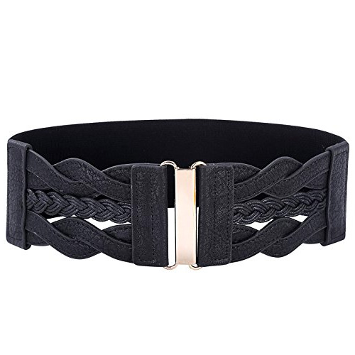 Grace Karin Women Plus Elastic Cinch Belt