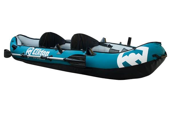 Elkton Outdoors 10' Foot Inflatable Tear Rear Resistant Fishing Kayak