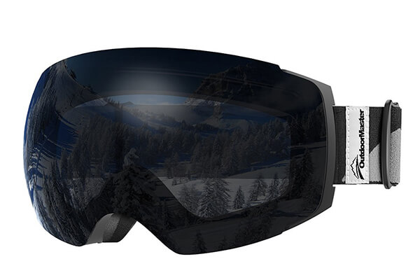 OutdoorMaster Ski Goggles PRO - Frameless, Interchangeable Lens Snow Goggles for Men & Women - 100% UV Protection