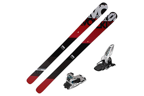 2016 Volkl Mantra Skis (European Edition) w/ Marker Griffon Bindings (White/Teal)