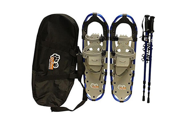New Style DePaw Man Woman Kid Snowshoes with Pole Free Bag