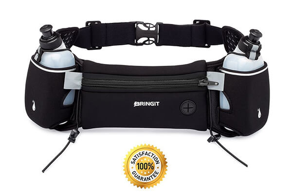 Running Hydration Belt with Water Bottles