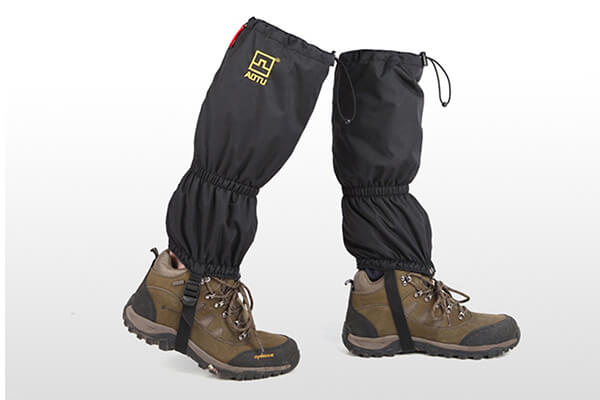 High Thicken Snow Leg Gaiters, Oumers Winter Waterproof Breathable Velcro Wraps