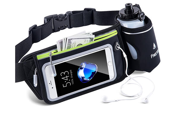 FREETOO Hydration Running Belt with Water Bottle