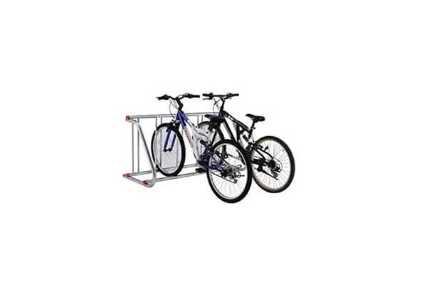 Grid Bike Rack, Powder Coated Galvanized Steel, 5-Bike Capacity