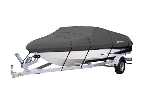 Clic Accessories Stormpro Heavy Duty Boat Cover With Support Pole