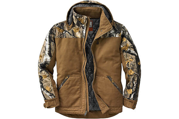 Legendary Whitetails Men's Canvas Big Game Camo Workwear Jacket