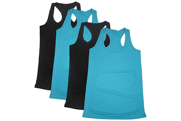 Semath Women's Active Basic Workout Clothes Cami Tank Top 1,2 or 4 Pack
