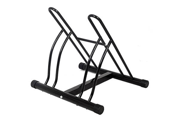 Goplus New Two Bicycle Bike Stand Rack Cycling Rack
