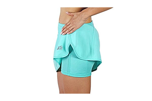 Running Skort, Tennis Skort Zipper Pocket for Workout