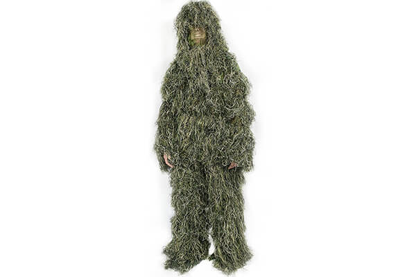 Ghillie Suit Camo Woodland Camouflage Forest Hunting 4-Piece + Bag by VIVO