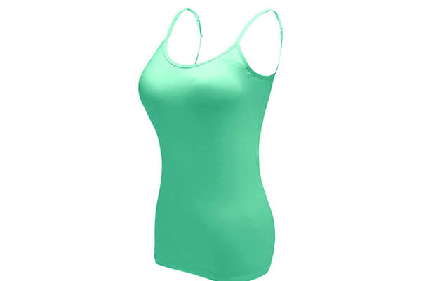 Ibeauti Breathable Classic Women's Basic Camisoles Tops with Built in Padded Bra