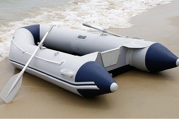 Ancheer Inflatable Boat, Inflatable Dinghy Raft -- 4 Individual Air Chambers, Aluminum Floor, inflatable Keel, V-shaped Hull, Outboard Motor Transom, Crash Barrier, 7.55/9.8/10.8 ft
