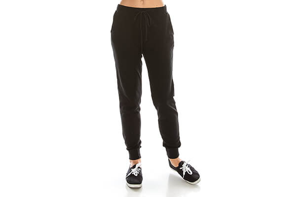 NOLABEL Women's Activewear French Terry Drawstring Jogger Pants Sweatpants with Pockets (S~3X Plus Size)
