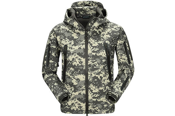 FREE SOLDIER Men's Jackets Outdoor Softshell Hooded Tactical Jacket