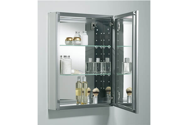 """Kohler K-CB-CLW2026SS Single Door 20""""W X 26""""H X 5-1/4""""D Aluminum Cabinet with Decorative Silver Framed Mirrored Door, Not Applicable"""