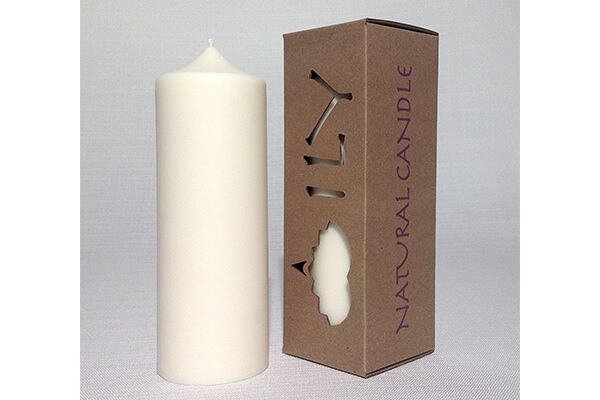 Natural & Unscented White Soy Pillar Candle LIBERTY by ILY Nature's Light 160 Hour Burn Time 2.75 x 7.3 Inch 1.5 lb Grown and Made in the USA