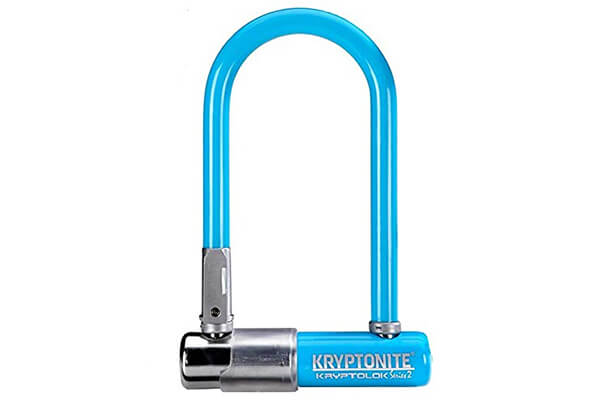 Kryptonite Kryptolok Series 2 Mini Bicycle U-Lock with Transit FlexFrame Bracket, 3.25 x 7-inch