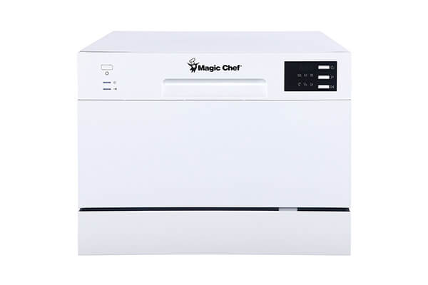 Magic Chef MCSCD6W5 6 Plate Countertop Dishwasher