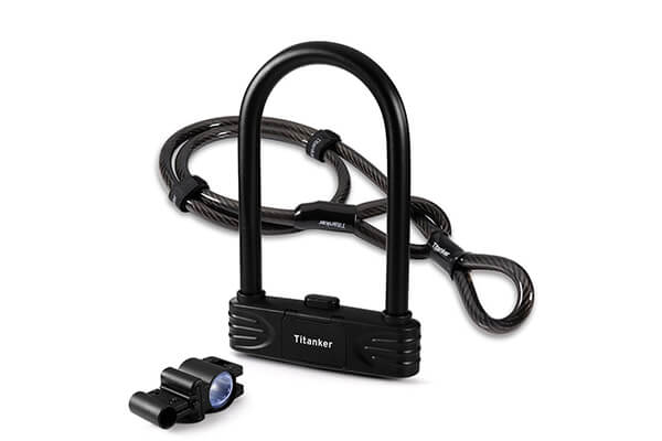 U Lock Bike Lock, TITANKER Heavy Duty Combination Bike U Shackle Secure Locks Bike Locks Anti Theft