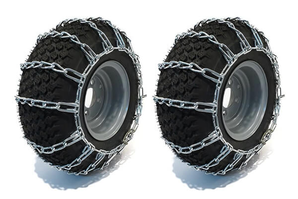 New PAIR 2 Link TIRE CHAINS for UTV ATV 4-Wheeler Quad Vehicle by The ROP Shop