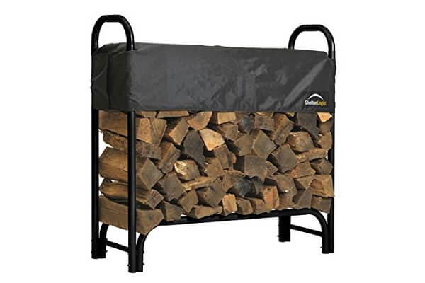 ShelterLogic 90403 Heavy Duty Firewood Rack with Cover