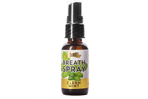 The Dirt Clean Mint All Natural Breath Spray - Alcohol, GMO, Alcohol, Soy, Corn, Gluten, Grain, and Cruelty Free