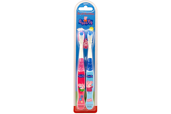 Brush Buddies Peppa Pig 2 Pack Toothbrush