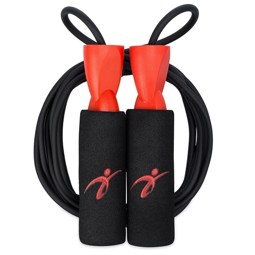 3. Adjustable Jump Rope with Carrying Pouch - Cardio Jumping Rope