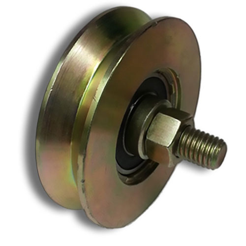 "3"" Single Bearing V Groove Inverted V Track Wheel for Driveway gates"
