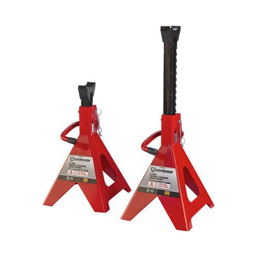Strongway Double-Locking Jack Stands - Pair, 6-Ton Capacity