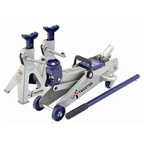 Liftmaster 2 Ton Hydraulic Trolley Floor Jack and Jack Stands Combo Set