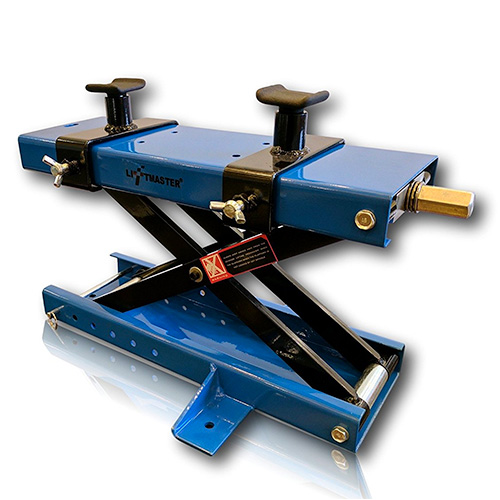 Liftmaster 1100 LB Motorcycle Center Scissor Lift Jack with Safety Pin