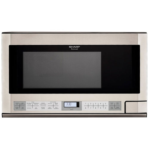 2. Sharp R-1214 1-1/2-Cubic Feet 1100-Watt Over-the-Counter Microwave, Stainless