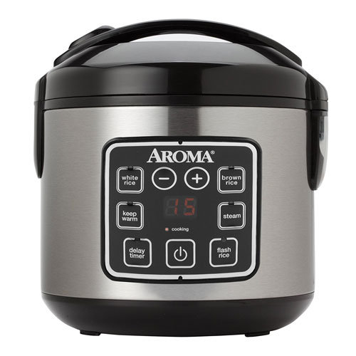 2. Aroma Housewares ARC-914SBD 8-Cup (Cooked) Digital Cool-Touch Rice Cooker