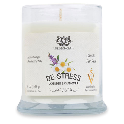 Lavender & Chamomile Aromatherapy Deodorizing Soy Candle For Pets