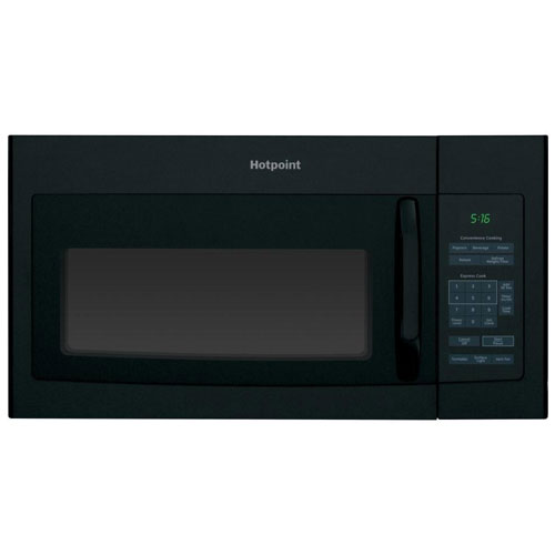 7. Hotpoint RVM5160DHBB 1.6 cu. Ft. Over-The-Range Microwave Oven