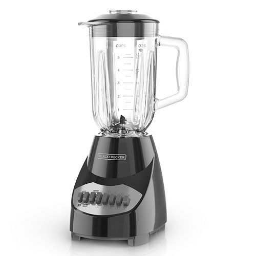 BLACK+DECKER Countertop Blender with 5-Cup Glass Jar BL2010BG