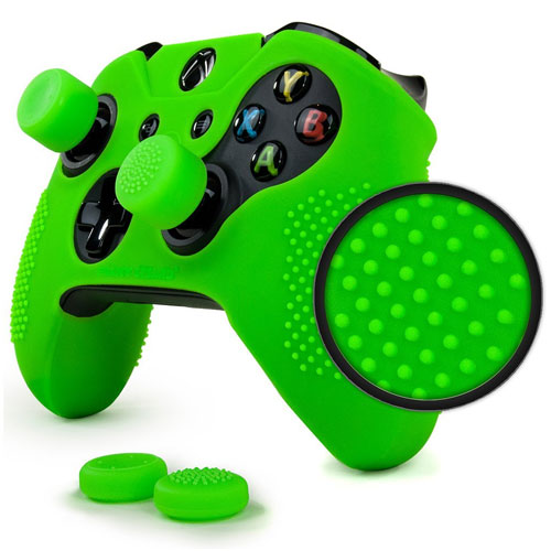 9. ParticleGrip STUDDED Skin Set for Xbox One (& One S) by Foamy Lizard