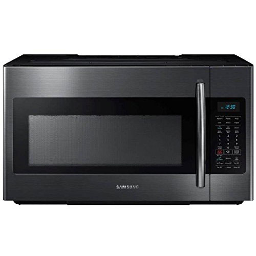 9. Samsung ME18H704SFG 1.8 Cu. Ft. Black Stainless Steel Over-the-Range Microwave