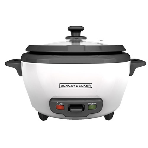 BLACK+DECKER RC506 6-Cup Cooked/3-Cup Uncooked Rice Cooker and Food Steamer